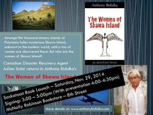 Saskatoon Book Launch - The Women of Skawa Island  @ McNally Robinson Booksellers | Saskatoon | Saskatchewan | Canada