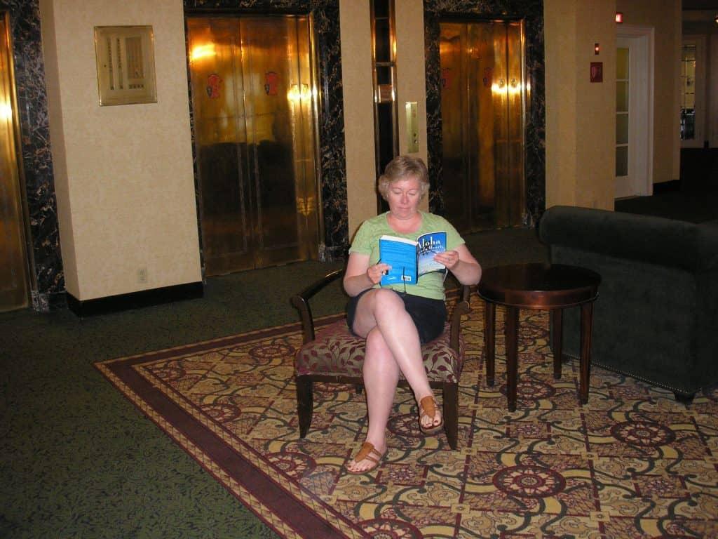 Sent in by Alison - enjoying a familiar read!