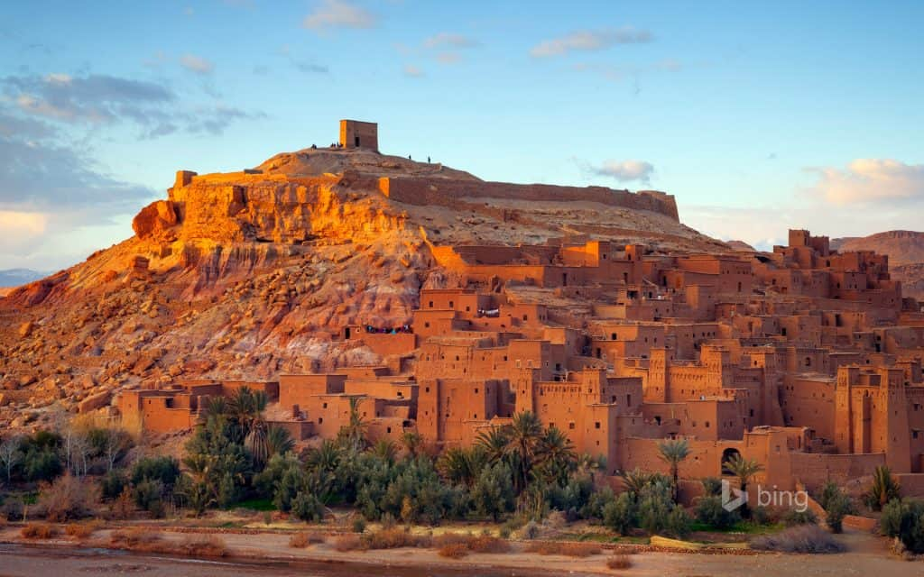 A town almost hidden in the side of the Atlas Mountains