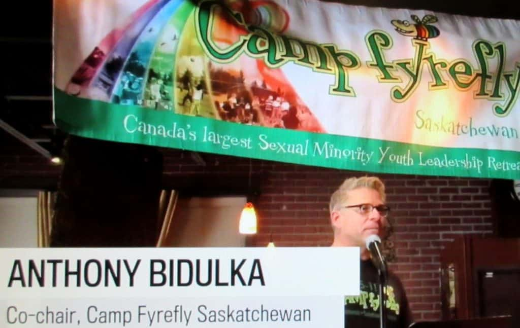 Announcing support of Saskatchewan Roughriders support of Camp fYrefly