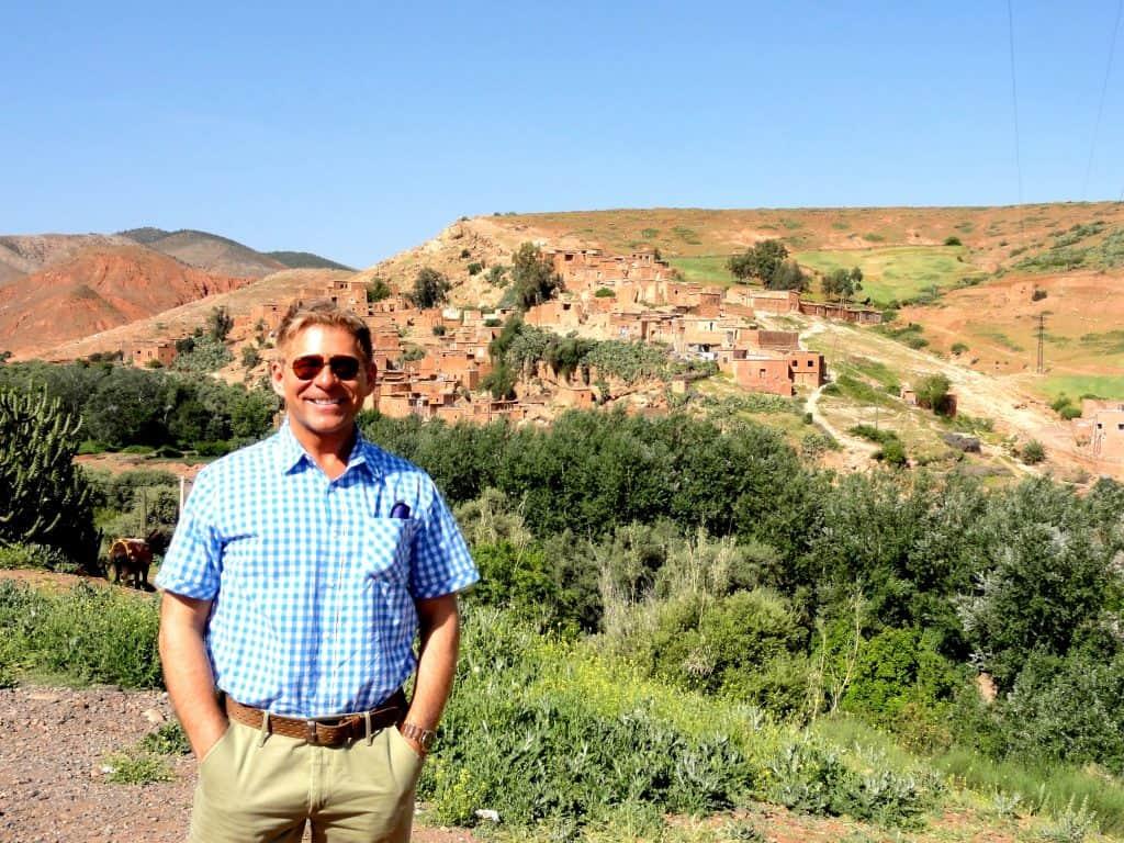 Anthony Bidulka Atlas Mountain scene - sometimes green, sometimes nothing but brown
