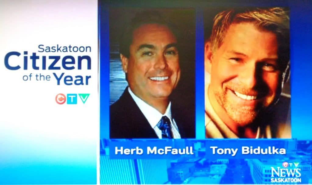 Being named 2014 CTV Saskatoon Citizen's of the Year