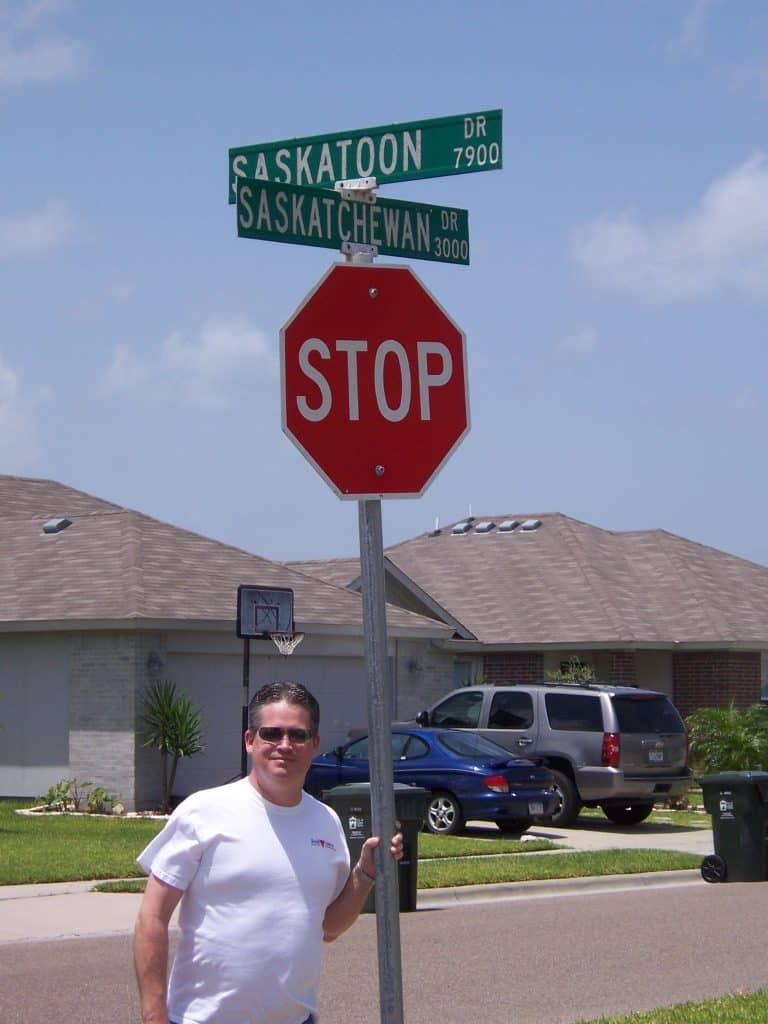 Sent in by Bill Parrish showing off the bizarre - streets named after Saskatchewan...in Texas