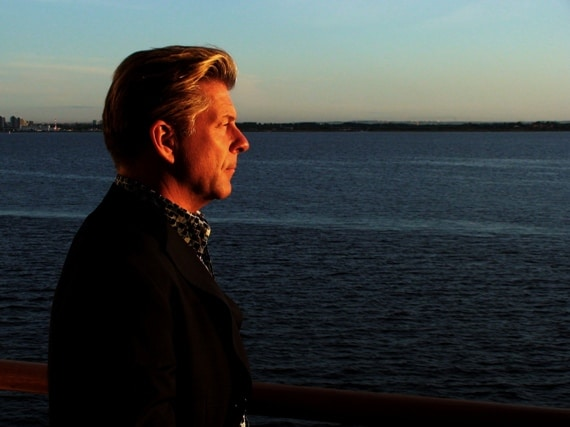 Contemplating Life. Dark Sea. Stunning sunset.  Aboard the Silver Cloud in the Baltic Sea.