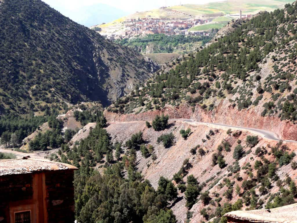 Driving in the Atlas Mountains