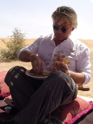 Eating breakfast at a Bedoin Camp - UAE