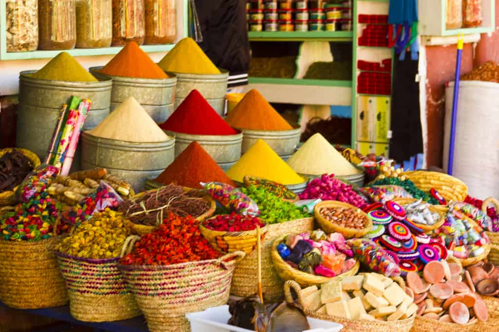 Extraordinary colours of the souks