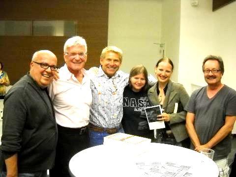 Gary, Bill, friend, singer Vanessa Cardui and Derry