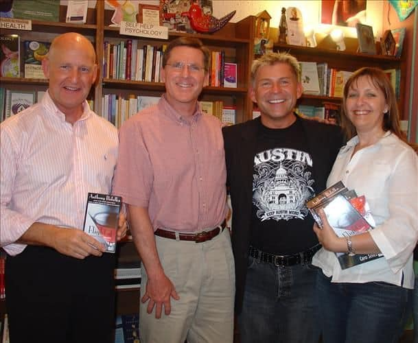 Stain of the Berry event at Austin's Bookwoman with Graeme, Dan and Rosario