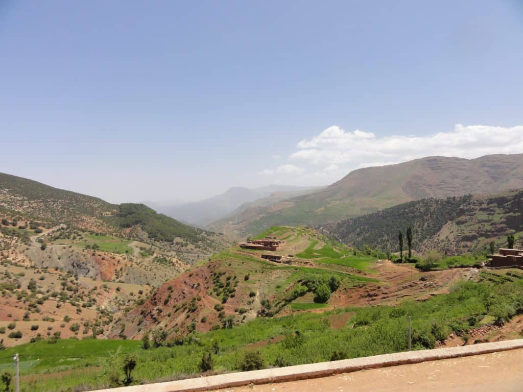 Heading into the Atlas Mountains