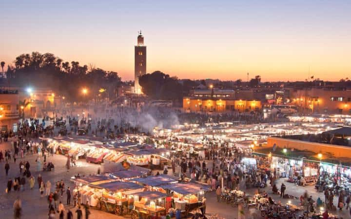 Jemaa el Fna at night - scary and exciting and fun