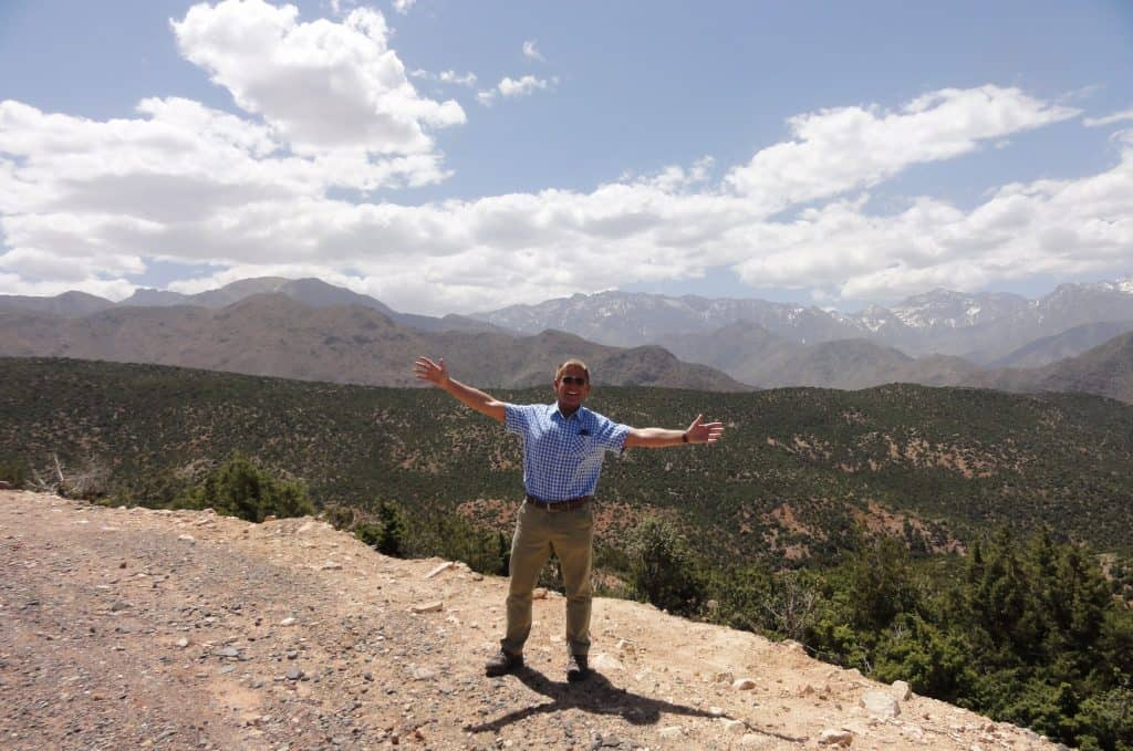 Nearing the top of the Atlas Mountains