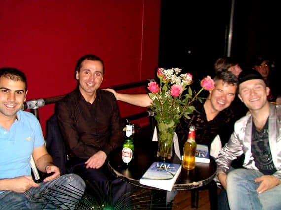 Toronto Launch of Aloha, Candy Hearts (2009)- fashion designer Norm Gaudet is the smiling guy behind the roses