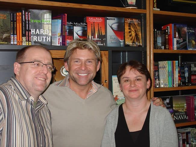 With Pat and Mike at Little Sisters for Stain of the Berry launch event, Vancouver, 2006