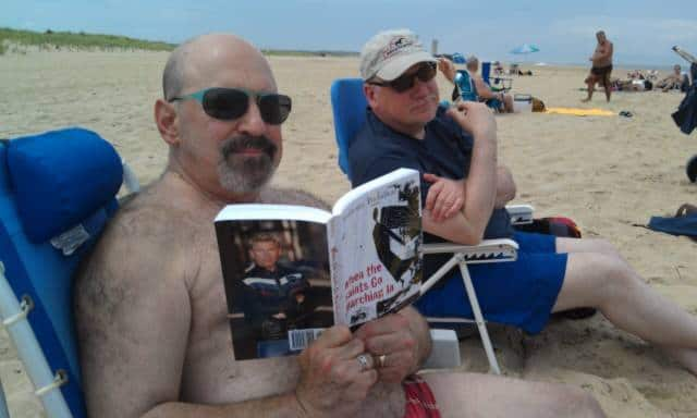 Peter and his annual summer beach reading - July 2013