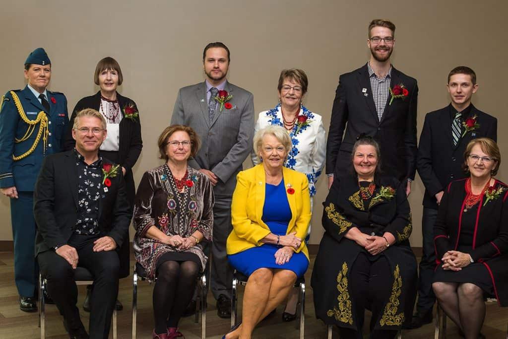 Receiving Nation Builder Award from the Ukrainian Canadian Congress