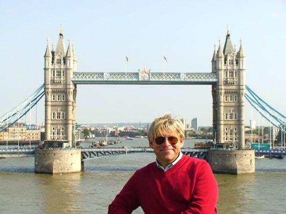 Sailing beneath London's Tower Bridge
