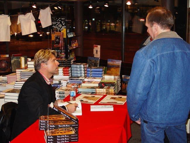 Signing at Edmontons Audreys Bookstore