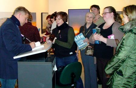 Signing at the Saskatoon Library