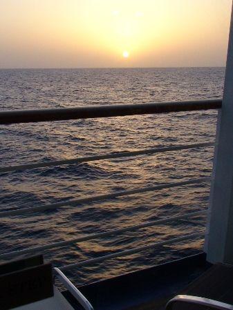 Sun Falling into Sea