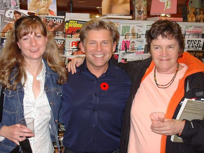 With Sylvie & Barb at Little Sisters in Vancouver, launch for Sundowner Ubuntu, 2007