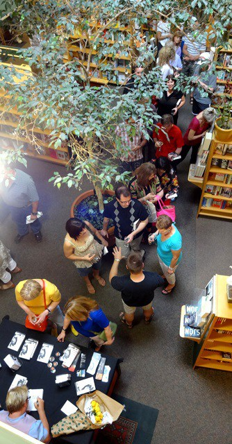 The signing line at McNally Robinson Saskatoon