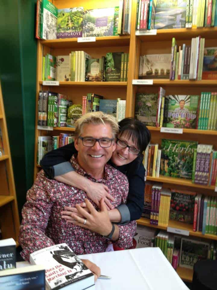 With reader Denise, who had just been in Saskatoon to surprise me by attending that launch too.